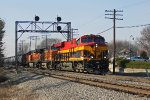 KCS 4787 is a pleasant surprise leading eastbound BNSF oil train U-ELUCXP